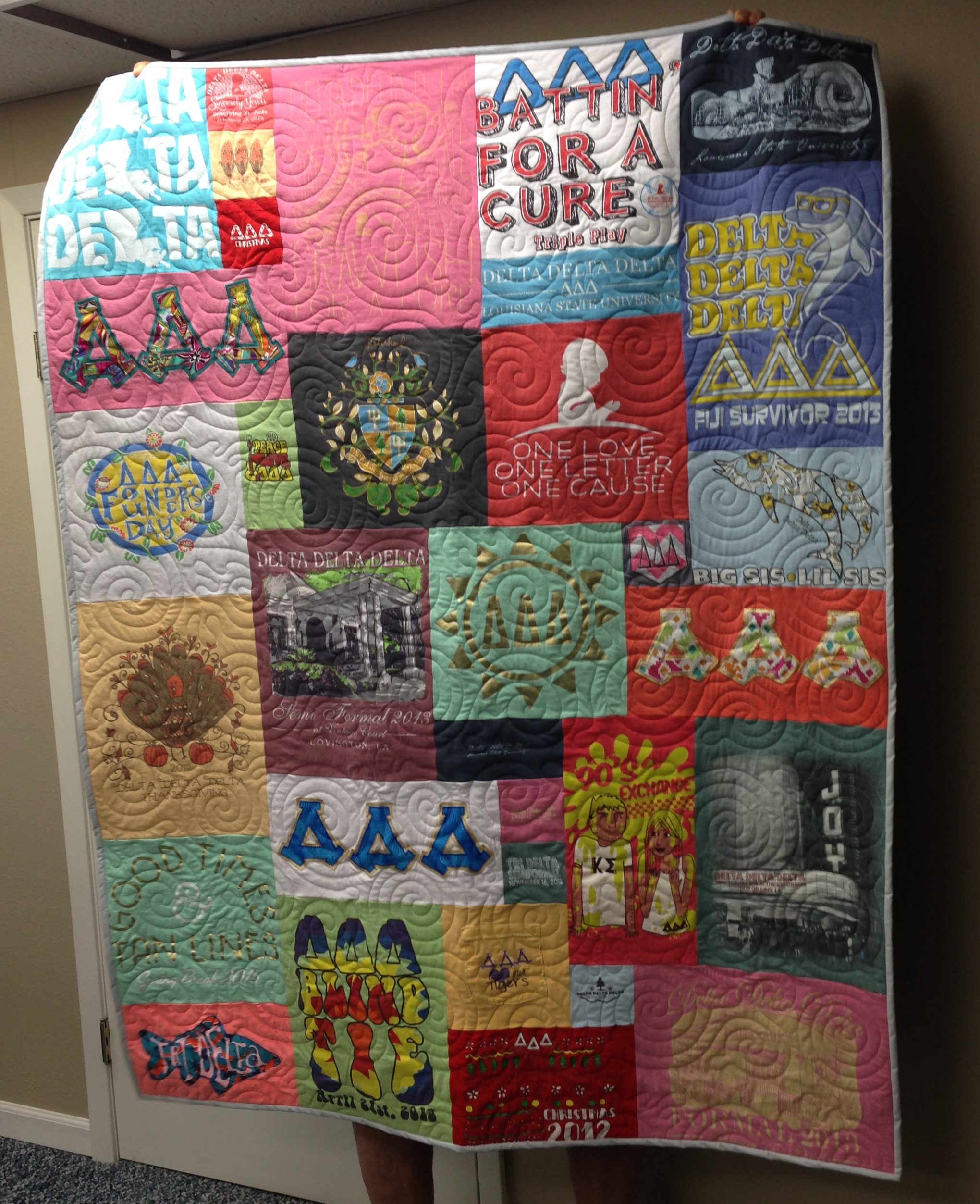 Sorority T Shirt Quilts Campus T Shirt Quilts By Cindy