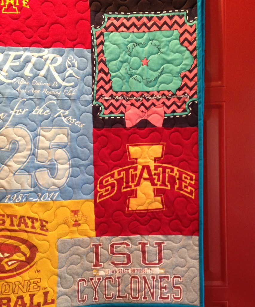 Iowa State Cyclones graduation quilt