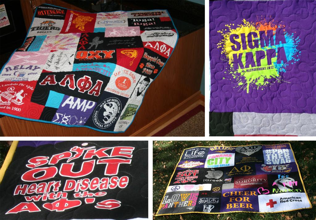 sorority t-shirt quilts