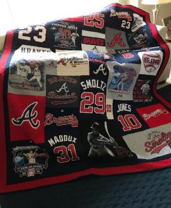 Braves baseball t-shirt quilt
